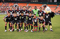 D.C. United lines up before the game at RFK Stadium in Washington, DC.  D.C. United defeated the Chicago Fire, 4-2.