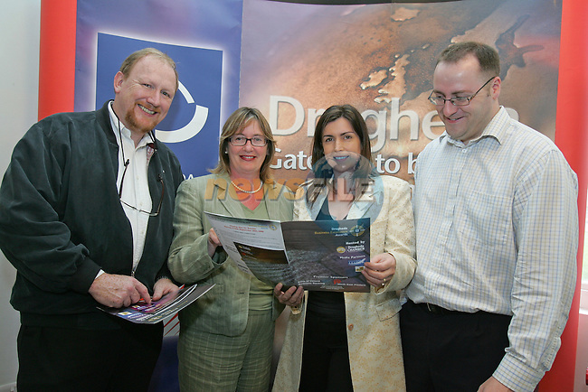 Peter Monaghan,   Elaine Grennan Drogheda Cancentrates and Cathal Hanratty  at the Launch of the Drogheda Chamber Business execelence awards in Barlow House..Photo NEWSFILE/FRAN CAFFREY..(Photo credit should read FRAN CAFFREY/NEWSFILE)...This Picture has been sent you under the condtions enclosed by:.Newsfile Ltd..the Studio,.Millmount Abbey,.Drogheda,.Co Meath..Ireland..Tel: +353(0)41-9871240.Fax: +353(0)41-9871260.GSM: +353(0)86-2500958.email: pictures@newsfile.ie.www.newsfile.ie.FTP: 193.120.102.198..This picture is from Fran Caffrey@newsfile.ie
