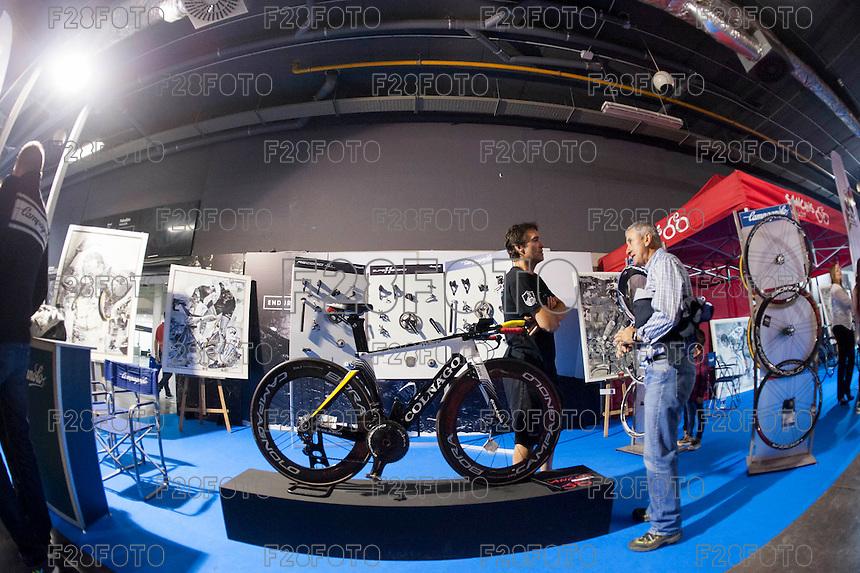VALENCIA, SPAIN - NOVEMBER 7: Colnago bike during DOS RODES at Feria Valencia on November 7, 2015 in Valencia, Spain