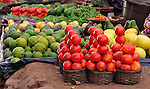 Produce in a market near Thyolo, in southern Malawi.