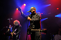 LONDON, ENGLAND - MARCH 10: Franz Nicolay, Steve Selvidge and Craig Finn of 'The Hold Steady' performing at Electric Ballroom, Camden on March 10, 2018 in London, England.<br /> CAP/MAR<br /> &copy;MAR/Capital Pictures