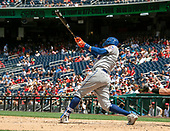 New York Mets third baseman Wilmer Flores (4) hits a solo home run in the ninth inning against the Washington Nationals at Nationals Park in Washington, D.C. on Wednesday, August 1, 2018.  The Nationals won the game 5 - 3.<br /> Credit: Ron Sachs / CNP<br /> (RESTRICTION: NO New York or New Jersey Newspapers or newspapers within a 75 mile radius of New York City)