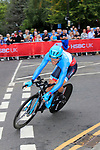 Hugo Houle (CAN) in action during the Men Elite Individual Time Trial of the UCI World Championships 2019 running 54km from Northallerton to Harrogate, England. 25th September 2019.<br /> Picture: Andy Brady | Cyclefile<br /> <br /> All photos usage must carry mandatory copyright credit (© Cyclefile | Andy Brady)