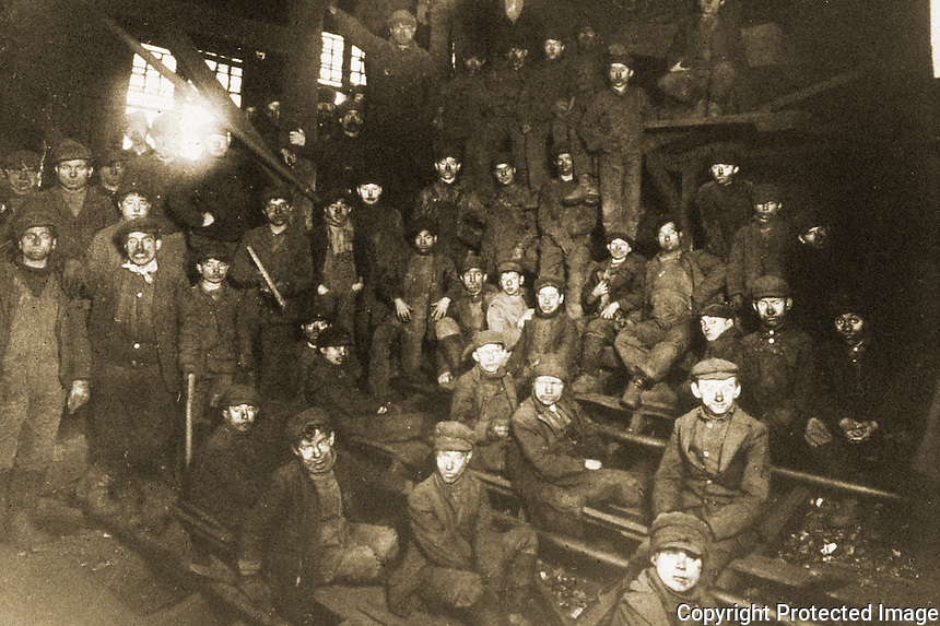 "Historical Views:  Lewis Hine photograph, ""Breaker Boys in Coal Chute, South Pittston PA., January 1911."