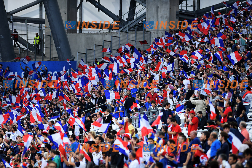 Tifosi Francia Supporters France <br /> Marseille 15-06-2016 Stade du Velodrome <br /> Football Euro2016 France - Albania / Francia - Albania Group Stage Group A<br /> Foto Massimo Insabato / Insidefoto