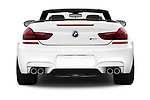 Straight rear view of 2017 BMW M6 - 2 Door Convertible Rear View  stock images