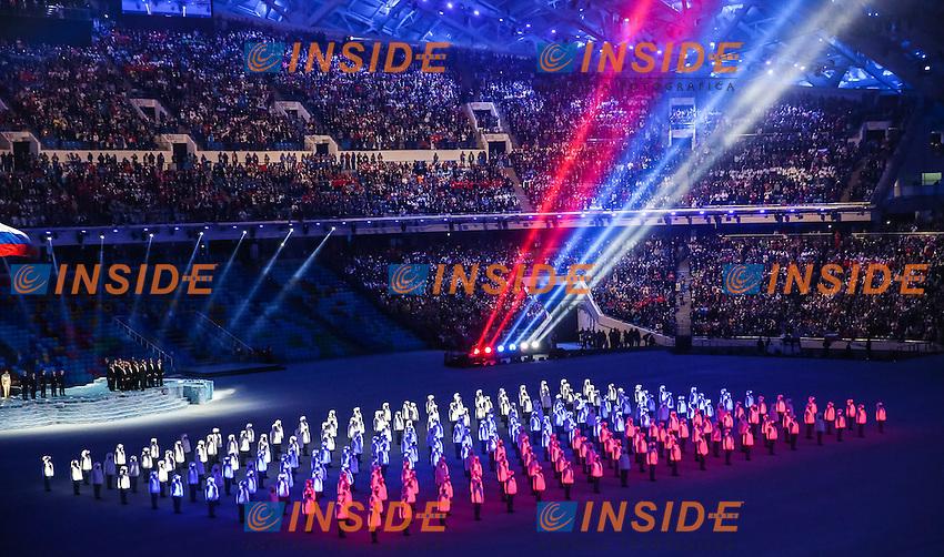 07.02.2014, Olympiastadion Fischt, Adlerer<br /> Cerimonia Inaugurale Apertura <br /> Sochi 2014 Olimpiadi Invernali. Olympic Winter Games <br /> Foto EXPA/ Insidefoto
