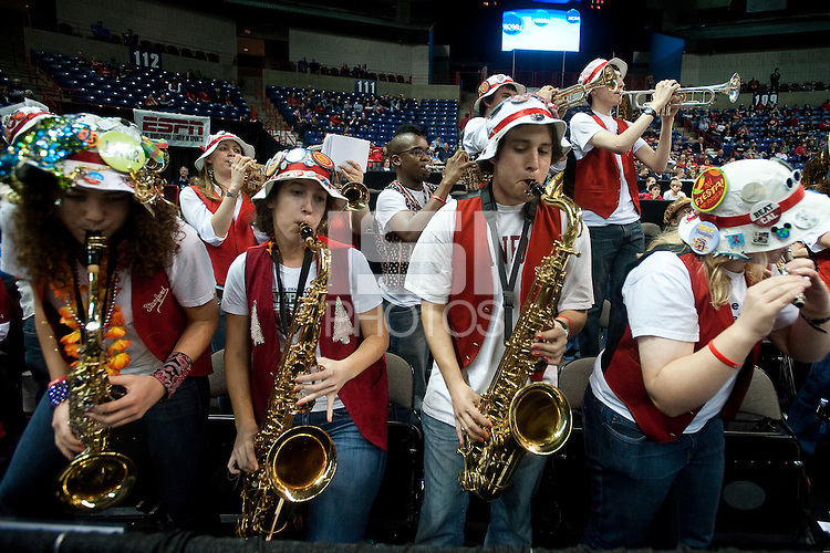 SPOKANE, WA - MARCH 26, 2011:Stanford Band during Stanford Women's Basketball vs University of North Carolina, NCAA West Regionals on March 26, 2011.