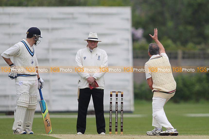 Garry Neicho has an appeal turned down during South Woodford CC vs Billericay CC, Shepherd Neame Essex League Cup Cricket at Highfield Road on 6th May 2017