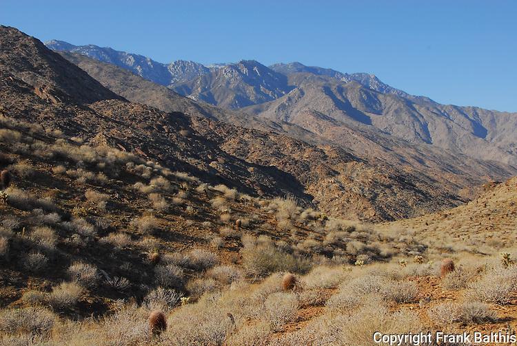 San Jacinto Mountains from Indian Canyons