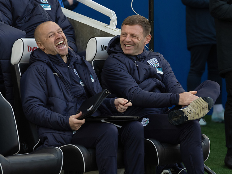 West Bromwich's First Assistant Head Coach Graeme Jones & First Team Coach James Shan<br /> <br /> Photographer David Horton/CameraSport<br /> <br /> Emirates FA Cup Fourth Round - Brighton and Hove Albion v West Bromwich Albion - Saturday 26th January 2019 - The Amex Stadium - Brighton<br />  <br /> World Copyright © 2019 CameraSport. All rights reserved. 43 Linden Ave. Countesthorpe. Leicester. England. LE8 5PG - Tel: +44 (0) 116 277 4147 - admin@camerasport.com - www.camerasport.com