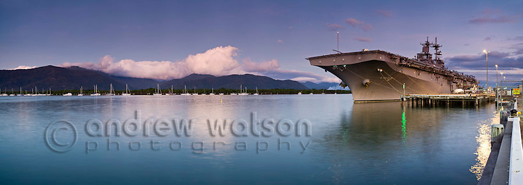 The USS Essex moored in Trinity Inlet.  Cairns, Queensland, Australia