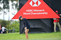 SINGAPORE - FEBRUARY 01: Sandra Gal of Germany chipping onto the 11th green during the second round of the HSBC Women's World Championship 2019 at Sentosa Golf Club - Tanjong Course, Singapore on March 01, 2019.<br /> .<br /> .<br /> .<br /> (Photo by: Naratip Golf Srisupab/SEALs Sports Images)<br /> .<br /> Any image use must include a mandatory credit line adjacent to the content which should read: Naratip Golf Srisupab/SEALs Sports Images