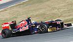 21.02.2012 Barcelona Spain. Formula One testind day1. Scuderia Toro Rosso with Australian driver Daniel Ricciardo