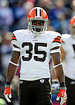 11 October 2009: Cleveland Browns' running back Jerome Harrison looks back to the bench during a game against the Buffalo Bills at Ralph Wilson Stadium in Orchard Park, New York. The Browns defeated the Bills 6-3 for Cleveland's first win of the season...Mandatory Photo Credit: Ed Wolfstein Photo