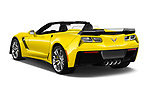 Car pictures of rear three quarter view of 2017 Chevrolet Corvette Z06-3LZ 2 Door Convertible Angular Rear