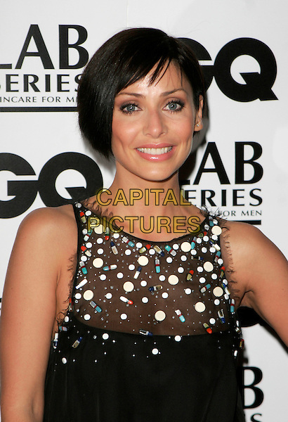NATALIE IMBRUGLIA.Attending the 10th Anniversary GQ Men Of The Year Awards, Royal Opera House, Covent Garden, London, England. .headshot portrait black sheer beads beaded .CAP/AH.©Adam Houghton/Capital Pictures