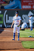 Colby Nealy (21) of the Ogden Raptors before the game against the Grand Junction Rockies at Lindquist Field on June 25, 2018 in Ogden, Utah. The Raptors defeated the Rockies 5-3. (Stephen Smith/Four Seam Images)