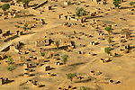 One of hundreds of burned villages in Sudan's Darfur region, the product of violence by government military forces and Arab militias against an insurgent force and the civilian population of the area.