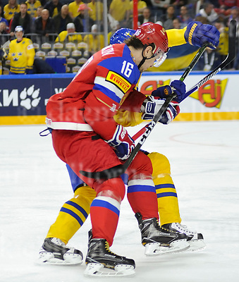 Friday, 5 May, 2017,Lanxess Arena , Cologne/GER<br /> IIHF World Hockey Championship 2017<br /> SWE  vs  RU<br /> Russia`s SERGEI PLOTNIKOV during game actionFriday, 5 May, 2017,Lanxess Arena , Cologne/GER<br /> IIHF World Hockey Championship 2017<br /> USA  vs  GER