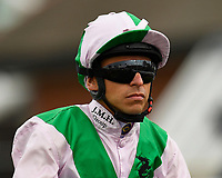 Jockey Raul Da Silva during Racing at Newbury Racecourse on 12th April 2019