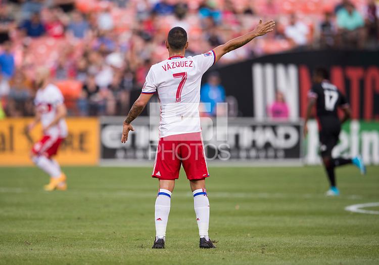 Washington, DC - August 5, 2017: D.C. United tied Toronto FC 1-1 during their Major League Soccer (MLS) match at RFK Stadium.