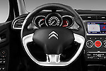 Steering wheel view of a 2010 Citroen C3 Exclusive 5 Door Hatchback