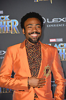 "Donald Glover at the world premiere for ""Black Panther"" at the Dolby Theatre, Hollywood, USA 29 Jan. 2018<br /> Picture: Paul Smith/Featureflash/SilverHub 0208 004 5359 sales@silverhubmedia.com"