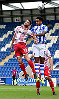 Stevenage's Danny Newton battles with Colchester United's Cole Kpekawa<br /> <br /> Photographer Hannah Fountain/CameraSport<br /> <br /> The EFL Sky Bet League Two - Colchester United v Stevenage Borough - Saturday August 12th 2017 - Colchester Community Stadium - Colchester<br /> <br /> World Copyright &copy; 2017 CameraSport. All rights reserved. 43 Linden Ave. Countesthorpe. Leicester. England. LE8 5PG - Tel: +44 (0) 116 277 4147 - admin@camerasport.com - www.camerasport.com