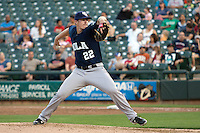 New Orleans Zephyrs pitcher Tom Koehler #22 delivers during the Pacific Coast League baseball game against the Round Rock Express on April 30, 2012 at The Dell Diamond in Round Rock, Texas. The Zephyrs defeated the Express 5-3. (Andrew Woolley / Four Seam Images)