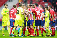 Atletico de Madrid's players and Getafe CF's players have words during La Liga match. January 6,2018. (ALTERPHOTOS/Acero) /NortePhoto.com NORTEPHOTOMEXICO