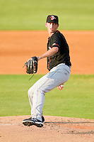 Delmarva Shorebirds starting pitcher Zach Davies #17 in action against the Kannapolis Intimidators at CMC-Northeast Stadium on June 21, 2012 in Kannapolis, North Carolina.  The Intimidators defeated the Shorebirds 6-5 in 11 innings.  (Brian Westerholt/Four Seam Images)