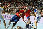 Aguinagalde vs Dolenec. SPAIN vs SLOVENIA: 26-22 - Semifinal.