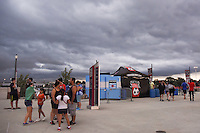 Bridgeview, IL - Saturday July 23, 2016: Fans, Toyota Park prior to a regular season National Women's Soccer League (NWSL) match between the Chicago Red Stars and the Houston Dash at Toyota Park.
