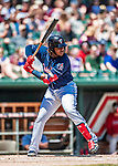 31 May 2018: New Hampshire Fisher Cats third baseman Vladimir Guerrero Jr. in action against the Portland Sea Dogs at Northeast Delta Dental Stadium in Manchester, NH. The Sea Dogs defeated the Fisher Cats 12-9 in extra innings. Mandatory Credit: Ed Wolfstein Photo *** RAW (NEF) Image File Available ***