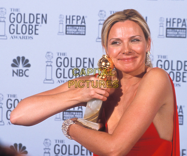 KIM CATTRALL.at the Golden Globe Awards.award winner.www.capitalpictures.com.sales@capitalpictures.com.© Capital Pictures