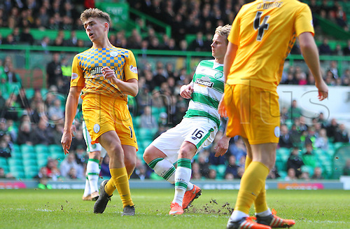 06.03.2016. Celtic Park, Glasgow, Scotland. Scottish Cup. Celtic versus Morton. Gary Mackay-Steven makes it 2-0 to Celtic