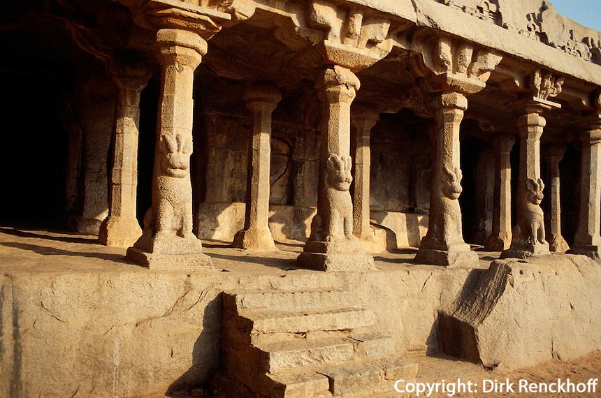Arjuna's penance in Mahabalipuram (Tamil Nadu),  Indien, Unesco-Weltkulturerbe