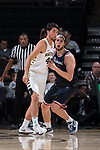 Troy Rike (45) of the Wake Forest Demon Deacons guards Grant Golden (33) of the Richmond Spiders during second half action at the LJVM Coliseum on December 2, 2017 in Winston-Salem, North Carolina.  The Demon Deacons defeated the Spiders 82-53.  (Brian Westerholt/Sports On Film)