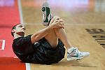 El jugador serbio IGOR RAKOSEVIC calienta minutos antes del partido. REAL MADRID - MONTEPASCHI SIENA. Euroleague 2012. 25 Enero,Palacio de los Deportes.