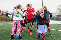 Allston, MA - Saturday, May 07, 2016: Chicago Red Stars goalkeeper Alyssa Naeher (1) before a regular season National Women's Soccer League (NWSL) match at Jordan Field.
