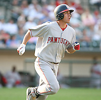 2007:  Jacoby Ellsbury of the Pawtucket Red Sox, Class-AAA affiliate of the Boston Red Sox, during the International League baseball season.  Photo by Mike Janes/Four Seam Images