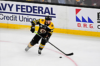 June 6, 2019: Boston Bruins left wing Brad Marchand (63) in game action during game 5 of the NHL Stanley Cup Finals between the St Louis Blues and the Boston Bruins held at TD Garden, in Boston, Mass. The Blues defeat the Bruins 2-1 in regulation time. Eric Canha/CSM
