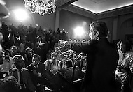 Manhattan, New York City, USA. August 11th, 1971. Republican Mayor John Lindsay publicly announces his political change of camp over to the Democrats at a press conference in City Hall thus terminating his political career.