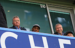 Chelsea's Guus Hiddink looks on with Didier Drogba and Roman Abramovich<br /> <br /> Barclays Premier League- Chelsea vs Sunderland - Stamford Bridge - England - 19th December 2015 - Picture David Klein/Sportimage