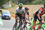 Nicolas Roche (IRL) BMC Racing Team, Amanuel Ghebreigzabhier (ERI) Team Dimension Data and Edward Ravasi (ITA) UAE Team Emirates on the final climb at the end of Stage 20 of the La Vuelta 2018, running 97.3km from Andorra Escaldes-Engordany to Coll de la Gallina, Spain. 15th September 2018.                   <br /> Picture: Colin Flockton | Cyclefile<br /> <br /> <br /> All photos usage must carry mandatory copyright credit (&copy; Cyclefile | Colin Flockton)