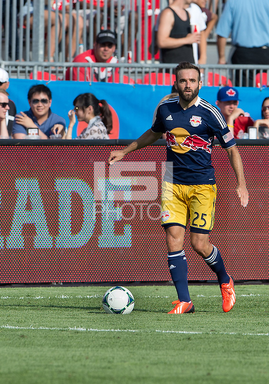 July 20, 2013: New York Red Bulls midfielder Brandon Barklage #25 in action during a game between Toronto FC and the New York Red Bulls at BMO Field in Toronto, Ontario Canada.<br /> The game ended in a 0-0 draw.