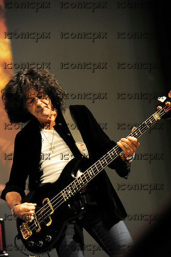 DIO - Bassist Jimmy Bain (19 Dec 1947 - 24 Jan 2016) - performing live at the Memorial concert for Ronnie James Dio 5th Anniverrsary held at the Forest Lawn Memorial Cemetery LosAngeles CA USA - 17 May 2015.  Photo credit: PG Brunelli/IconicPix