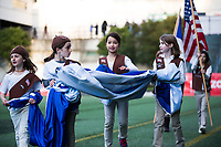 Seattle, WA - Saturday March 24, 2018: Girl Scouts during a regular season National Women's Soccer League (NWSL) match between the Seattle Reign FC and the Washington Spirit at the UW Medicine Pitch at Memorial Stadium.
