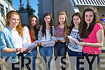 Aoife O'Carroll, Clodagh Harrington, Aisling Higgins, Tracy O'Keeffe, Ciara McCarthy and Clodagh Byrne, students attending Mercy Mounthawk Secondary School, Tralee, who received their Junior Certificate results on Wednesday morning.